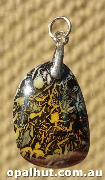 Yowah Boulder Matrix Black Opal Beads From Queensland